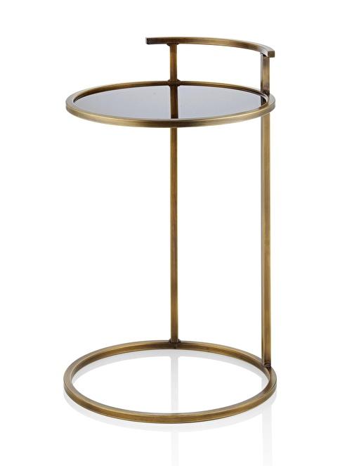 The Mia Yan Sehpa 60 x 40 x 40 Cm Gold Altın